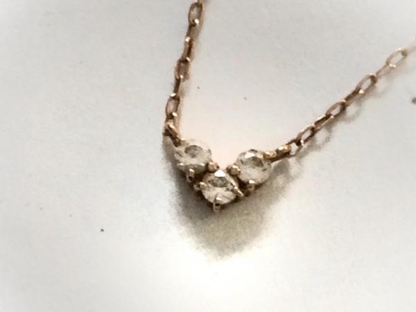 4℃(ヨンドシー) ネックレス美品  K10×ジルコニア K10PG×クリア ハート