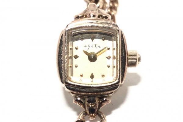 agete(アガット) 腕時計 1011 - レディース チェーンベルト ゴールド