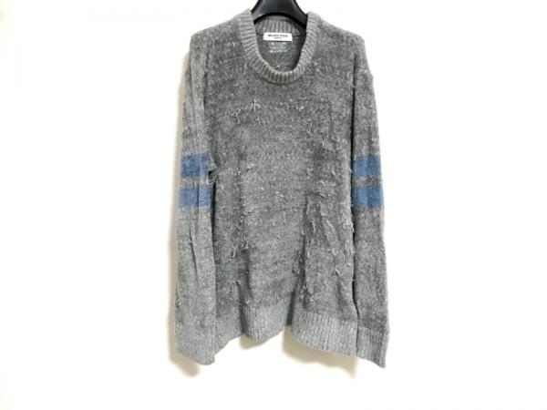 gelato pique(ジェラートピケ) 長袖セーター サイズM メンズ グレー×ブルー HOMME