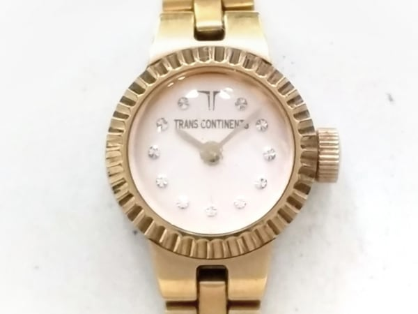 TRANS CONTINENTS(トランスコンチネンス) 腕時計 4520-H29778 レディース ピンク