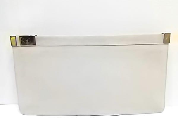 MARTIN MARGIELA(マルタンマルジェラ) クラッチバッグ 白×ライトグレー ヌバック