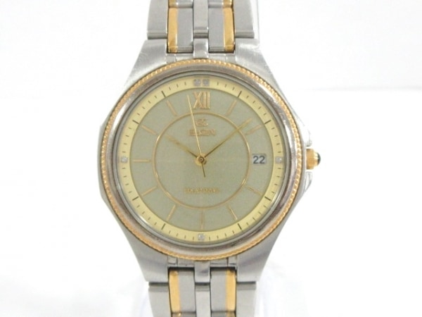 ELGIN(エルジン) 腕時計美品  FK-963-C メンズ ゴールド