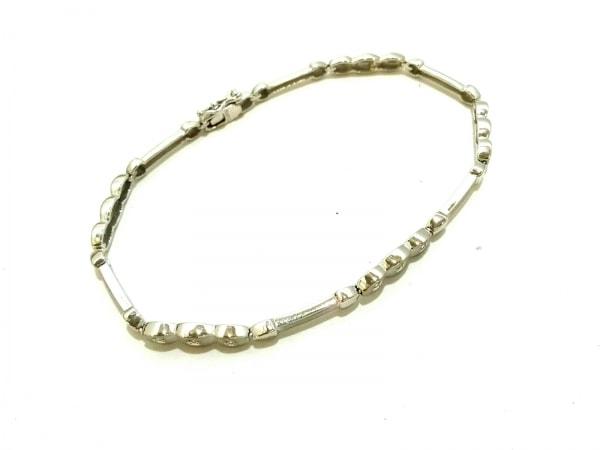 ノーブランド ブレスレット美品  K14WG×ダイヤモンド クリア 総重量:5.1g