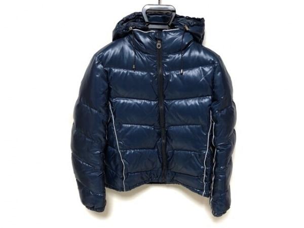 ティーケータケオキクチ ダウンジャケット サイズ2 M メンズ美品  ネイビー×白 冬物