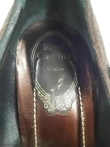 RENE CAOVILLA(レネカオヴィラ) パンプス 37 レディース ダークブラウン×黒 スエード