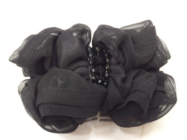 コンプレックスビズ アクセサリー美品  化学繊維×金属素材×ラインストーン 黒