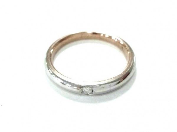 THE LAZARE DIAMOND(ラザールダイヤモンド) リング美品  Pt950×K18PG×ダイヤモンド
