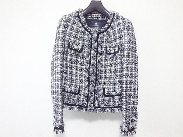 LOVELESS(ラブレス) ジャケット サイズ36 S レディース 白×グレー×黒 ツイード/ラメ