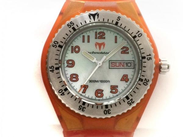 TECHNO MARINE(テクノマリーン) 腕時計美品  - ボーイズ シェル文字盤 シェルホワイト