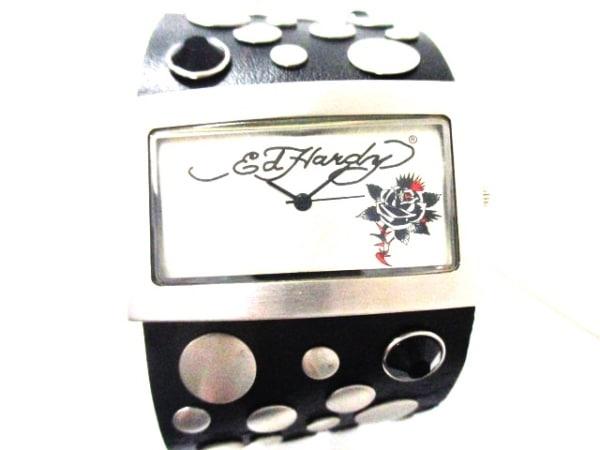 Ed Hardy(エドハーディー) 腕時計美品  LC-BR5079 ボーイズ シルバー