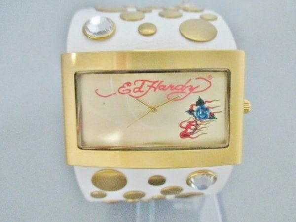 Ed Hardy(エドハーディー) 腕時計美品  LC-WG7259 ボーイズ ゴールド