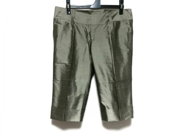 INCOTEX(インコテックス) パンツ サイズ42 L レディース カーキ シルク混