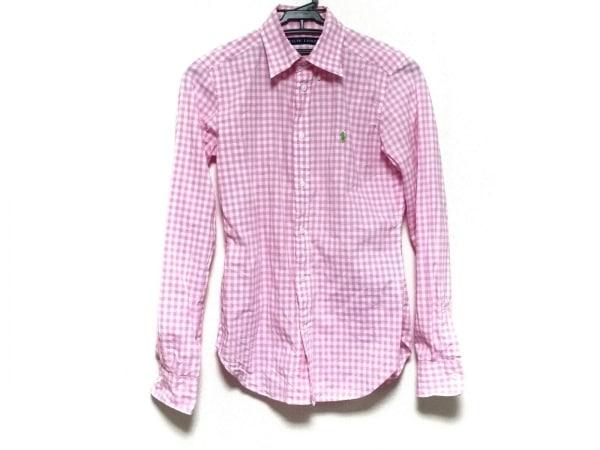 ラルフローレン 長袖シャツ サイズ4 XL メンズ美品  ピンク×白 ギンガムチェック