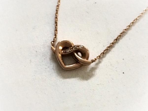 スタージュエリー ネックレス美品  K10×ダイヤモンド 3Pダイヤ/0.01カラット/ハート