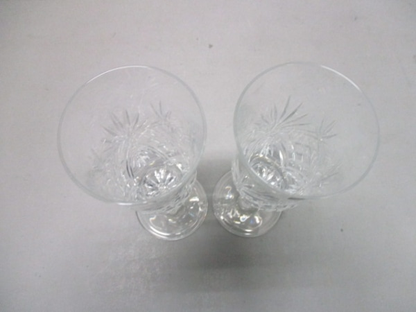 HOYAクリスタル(ホヤクリスタル) ペアグラス新品同様  クリア ガラス
