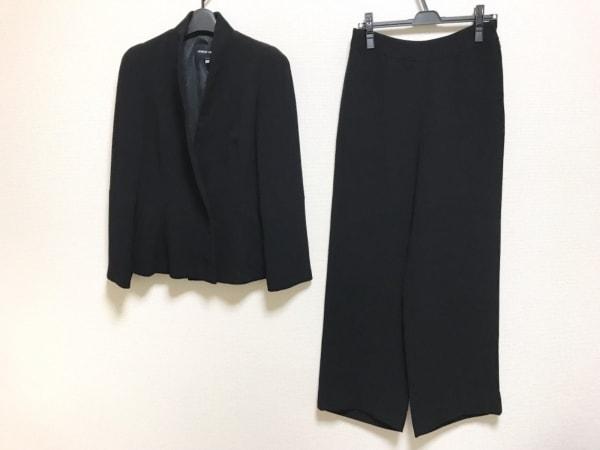 ジョルジオアルマーニ レディースパンツスーツ サイズ40 M レディース美品  黒