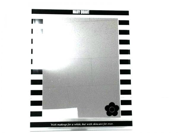 MARY QUANT(マリークワント) ミラー美品  クリア×黒 メイクアップミラー/ボーダー