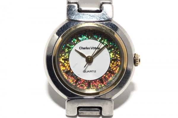 CharlesVogele(シャルルホーゲル) 腕時計 CV-7386 レディース 白×ゴールド
