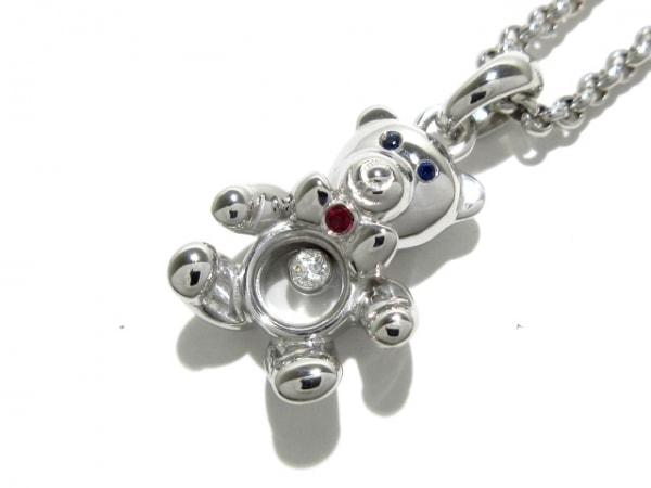 Chopard(ショパール) ネックレス新品同様  ハッピーダイヤモンド 79/2226 レッド