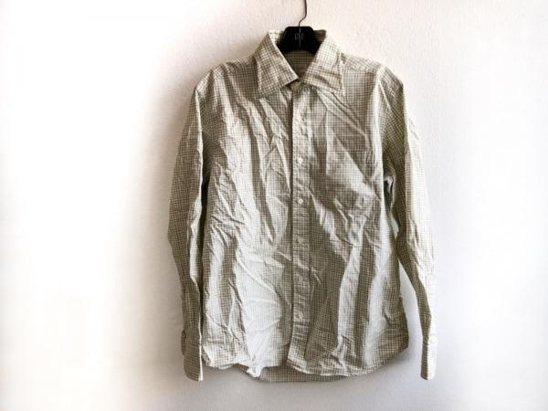 ポールスミス 長袖シャツ サイズL メンズ美品  アイボリー×ライトグリーン×ベージュ