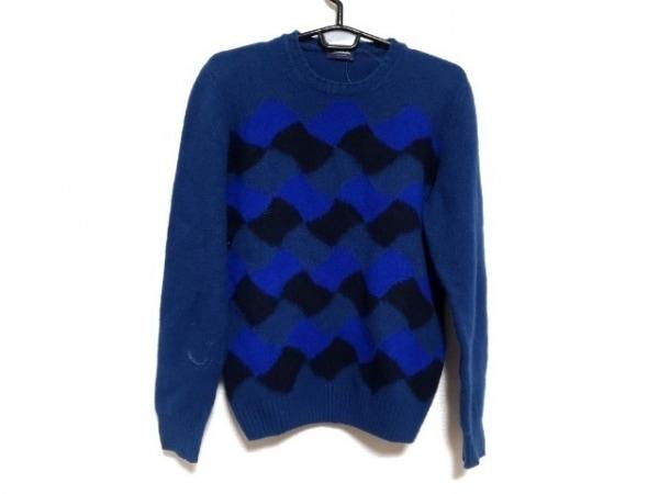 Drumohr(ドルモア) 長袖セーター サイズ46 XL メンズ美品  ネイビー×ブルー×黒