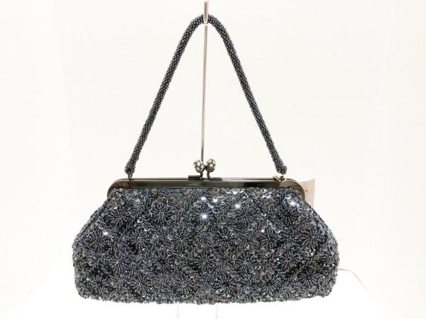 CheChe(チチ) ハンドバッグ美品  シルバー ビーズ/スパンコール サテン×金属素材