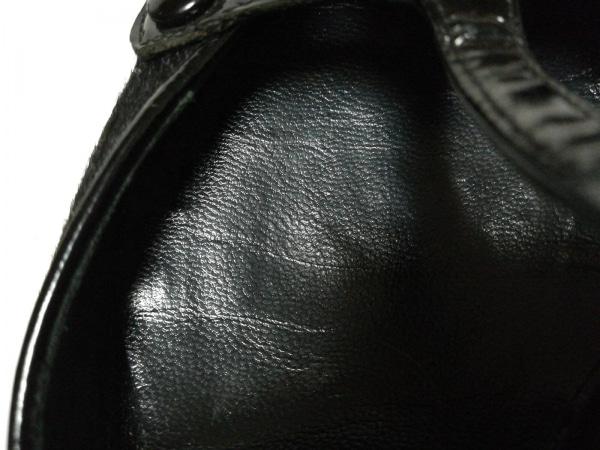 アレクサンドラニール パンプス 36 1/2 レディース 黒 ハラコ×エナメル(レザー)