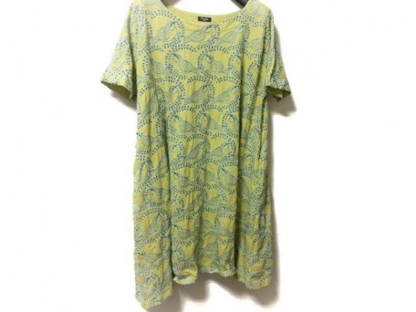 マーブルシュッド ワンピース レディース美品  ライトグリーン×ブルー 刺繍/鳥