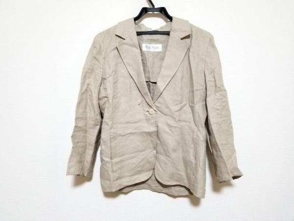 Max Mara(マックスマーラ) ジャケット サイズ40 M レディース美品  ベージュ リネン