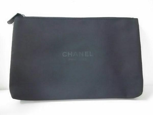 CHANEL PARFUMS(シャネルパフューム) ポーチ美品  黒 ナイロン