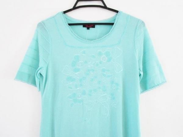 YUKITORII(ユキトリイ) ワンピース サイズ38 M レディース ライトグリーン 刺繍/ラメ
