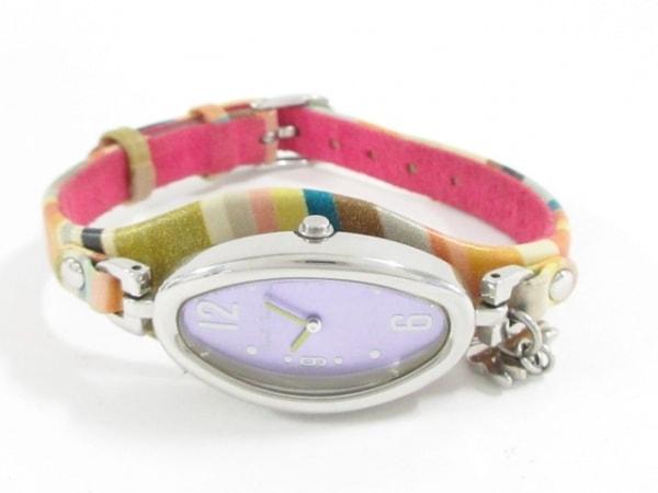 ポールスミス 腕時計美品  5421-T010032 レディース 革ベルト/うさぎ パープル