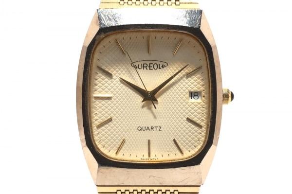 AUREOLE(オレオール) 腕時計 W-211 メンズ アイボリー