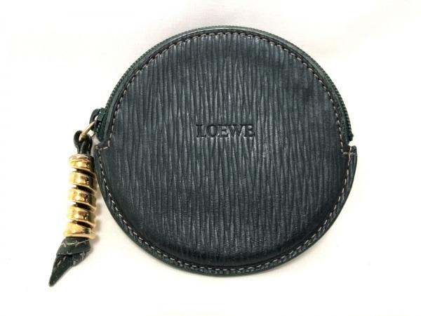 LOEWE(ロエベ) コインケース - ダークグリーン レザー