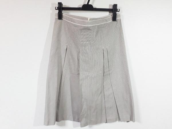マックスマーラ スカート サイズ42 M レディース新品同様  アイボリー×黒