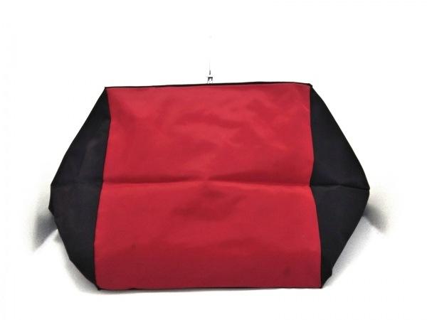 Herve Chapelier(エルベシャプリエ) ショルダーバッグ 黒×レッド ナイロン