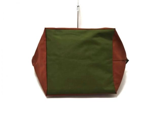 Herve Chapelier(エルベシャプリエ) ハンドバッグ美品  ブラウン×カーキ ナイロン