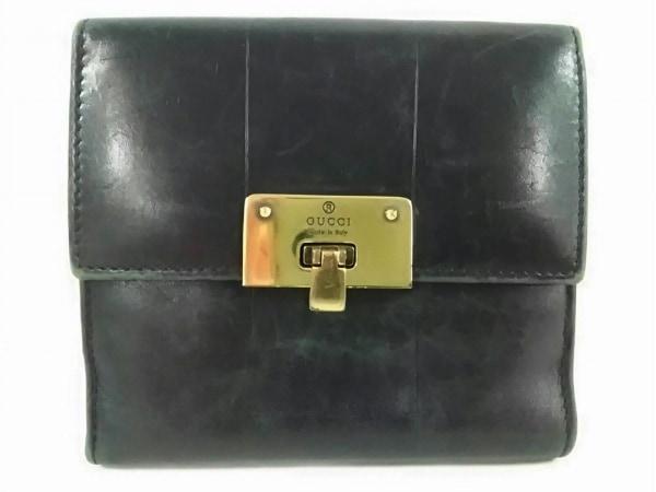 GUCCI(グッチ) Wホック財布 - 92716 黒 レザー