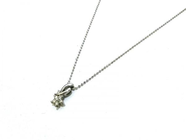 ノーブランド ネックレス美品  K18WG×ダイヤモンド クリア 総重量:1.9g/008刻印