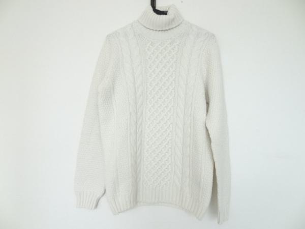 Drumohr(ドルモア) 長袖セーター サイズ50 メンズ アイボリー タートルネック