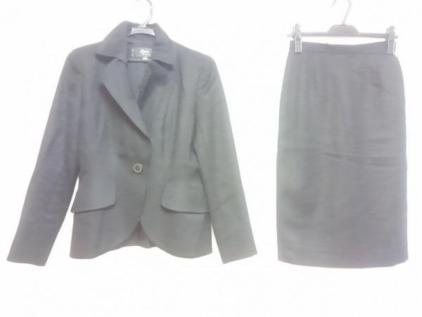 ignes(イグネス) スカートスーツ サイズ38 M レディース 黒 肩パッド