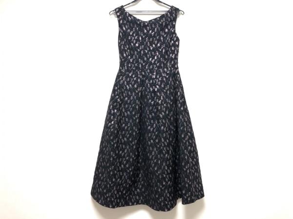 ブルーガール ワンピース サイズ712 レディース美品  黒×ピンク×マルチ 花柄/Folies