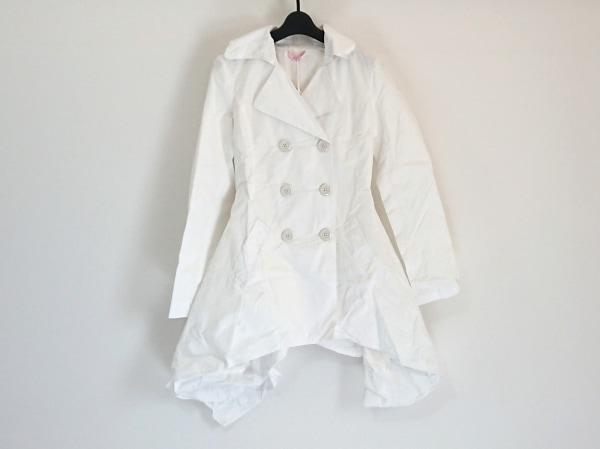 ブルーガール コート サイズ38 M レディース美品  白 Folies/春・秋物/変形デザイン