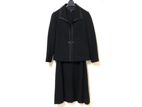 Tokyo Soir(トウキョウソワール) ワンピーススーツ サイズ9 M レディース 黒 肩パッド