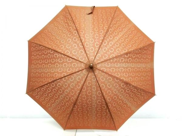 CELINE(セリーヌ) 傘 Cマカダム柄 ブラウン 化学繊維×プラスチック
