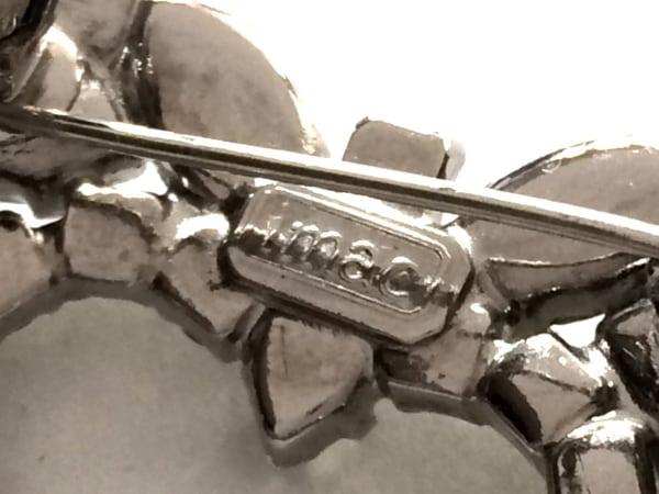 imac(イマック) ブローチ美品  ラインストーン×金属素材 クリア×シルバー ハート