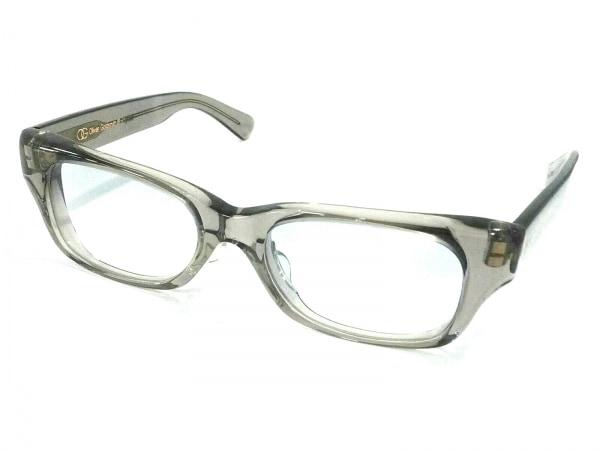 オリバーゴールドスミス メガネ美品  MUST クリア×グレー プラスチック