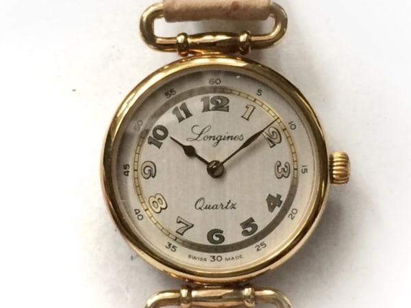 LONGINES(ロンジン) 腕時計美品  - レディース 革ベルト シルバー