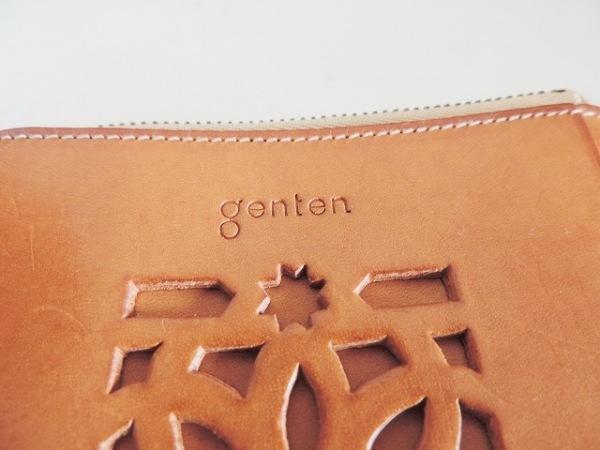 genten(ゲンテン) コインケース ライトブラウン L字ファスナー レザー
