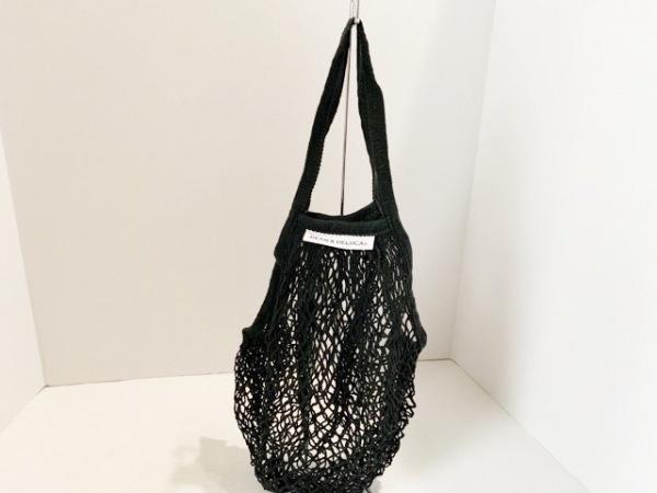 DEAN&DELUCA(ディーンアンドデルーカ) トートバッグ美品  黒 ネットバッグ コットン